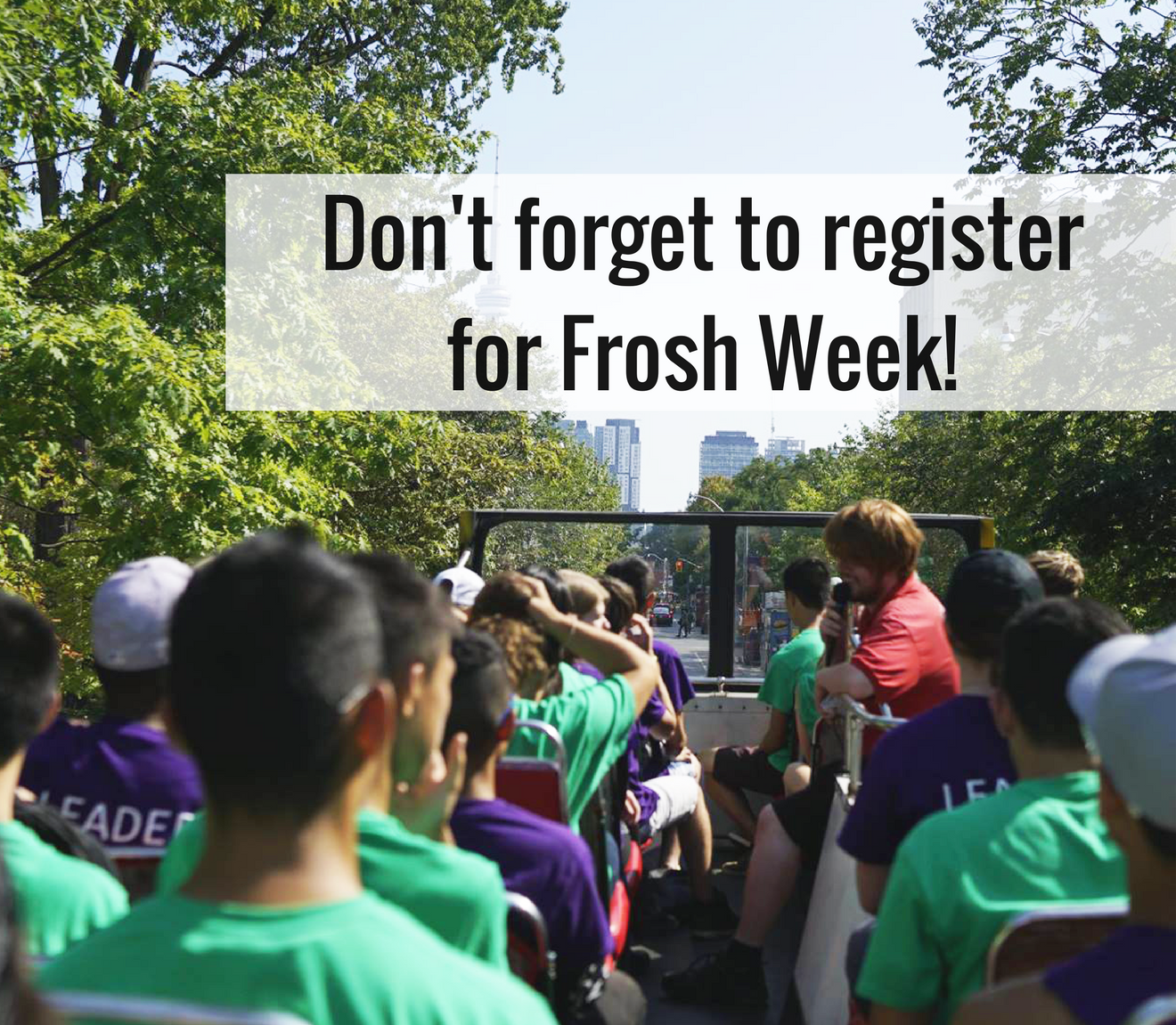 Have you registered for Frosh Week yet?